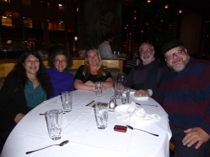 Janette, Phyllis, Zabrina, Joel and Chuck working hard at Andaluca Restaurant in downtown Seattle.